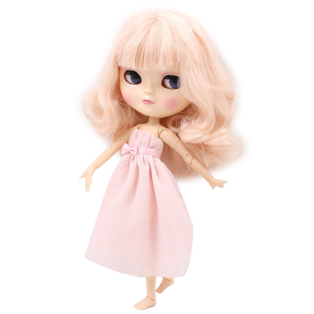 Free shipping fortune days icy doll BL2352 light pink hair natural skin joint azone body small chest 1/6 gift toy free shipping icy doll joint body natural skin black hair bjd toy gift bl117