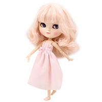 Free shipping fortune days icy doll BL2352 light pink hair natural skin joint azone body small chest 1/6 gift toy