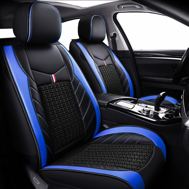 (Trước + Reat) da PU bọc ghế xe ô tô xe Volkswagen tất cả các dòng xe VW Polo Passat B6 B7 B8 GOLF 5 6 7 TOURAN TIGUAN Jetta xe ô tô