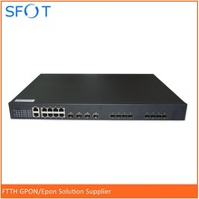 EPON GEPON OLT 8 PORTS 10ge uplink suit for HUAWEI, ZTE, FiberHome ONU ONT free NMS software