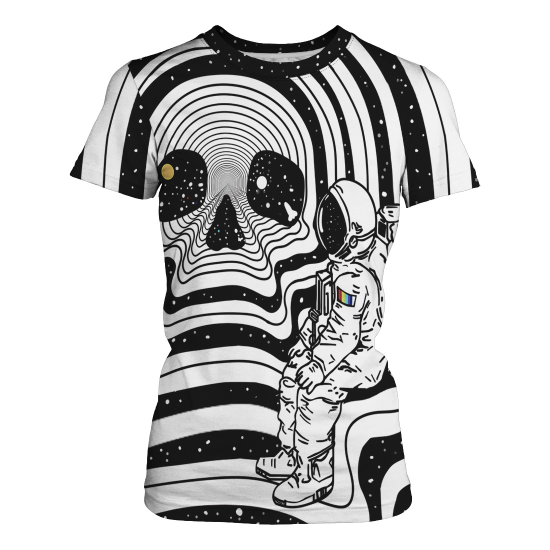 Amoy 3d Code Number Printing Stripe Tiger Human Skeleton Rendering Unlined Upper Garment Short Sleeve Woman Easy Lovers Short T in T Shirts from Women 39 s Clothing
