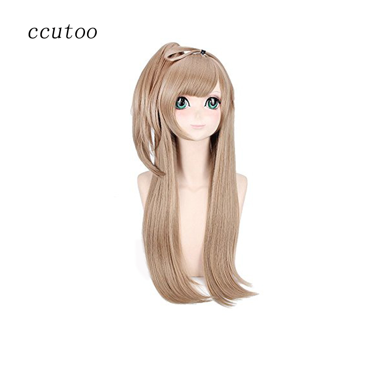ccutoo Lovelive Kotori Minami 32 Females Blonde Long Straight Synthetic Hair Cosplay Costume Wigs Chip Ponytail