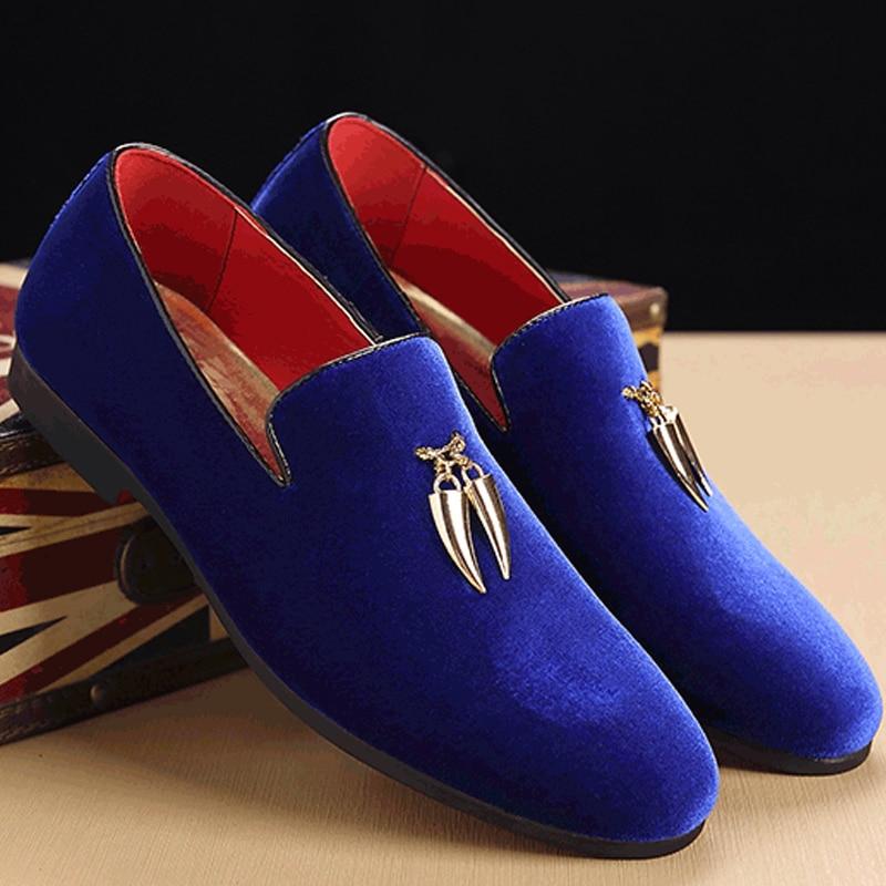 Mocassins pour hommes bateau chaussures en métal ornements homme sociale chaussures grande taille 38-49 designer chaussures hommes de printemps chaussures en cuir