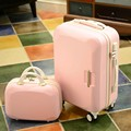 Luggage set 14 '/ 2 sets of 5 color optional leisure lovely line to travel wheel ABS + PC trolley suitcase travel