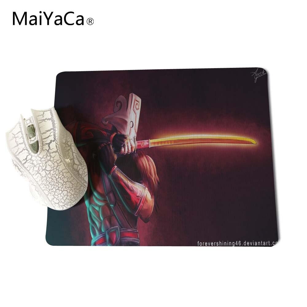 Maiyaca Dota 2 Джаггернаут прямоугольник кремния прочный коврик для мыши 18*22 см и 25*29 см