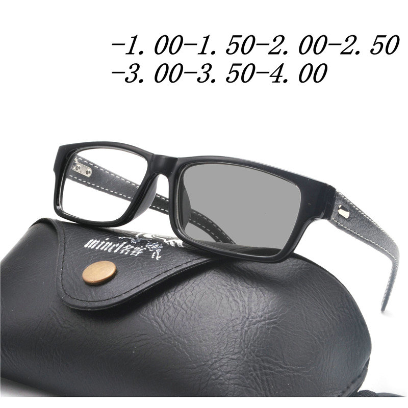 08c52c24c28 new transition sun photochromic Spectacle Eyeglasses Men Computer Optical  squareFrame Glasses Myopia Frame With box FML