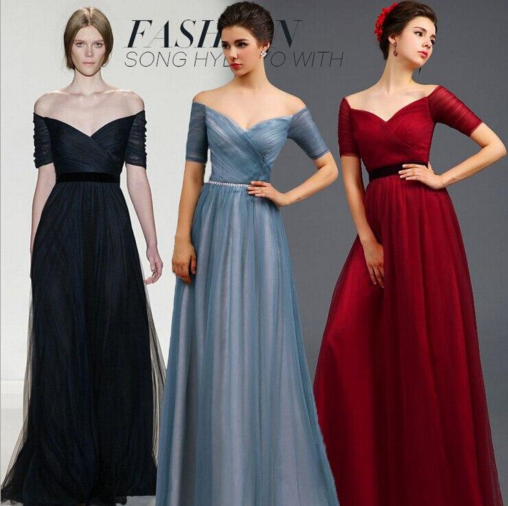 Grey Red Formal Dress