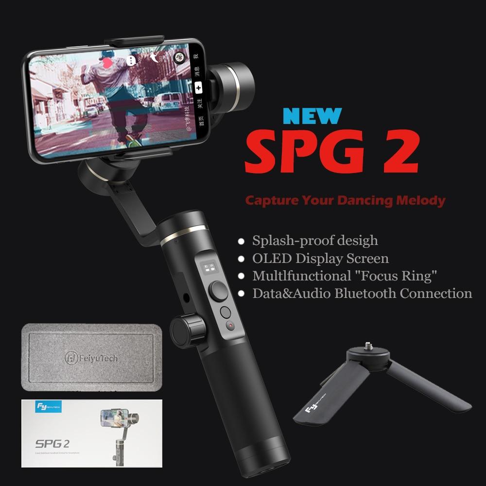 FeiyuTech Nouveau SPG2 3-Axes De Poche Stabilisateur Cardan pour Smartphone iphone X 8 7 OPPO Samsung Note 8 ViVO mobile téléphones