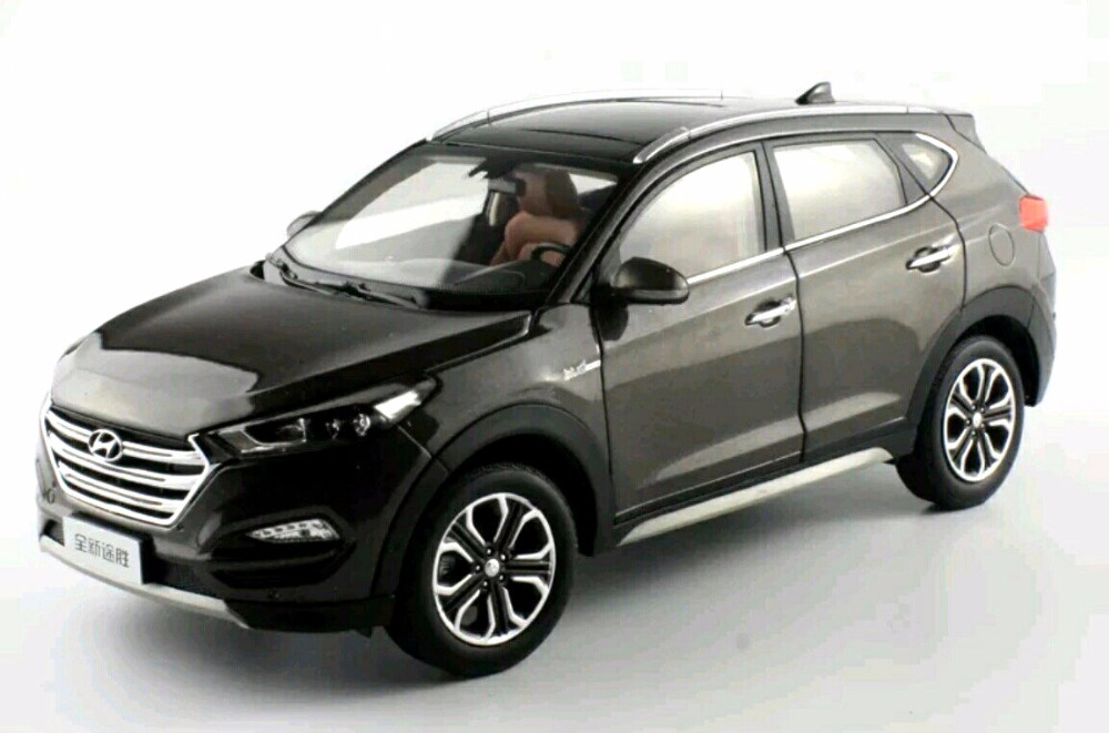 1:18 Diecast Model for Hyundai Tucson 2016 Brown SUV Alloy Toy Car Miniature Collection Gifts IX 1 18 diecast model for volvo v60 2016 blue suv alloy toy car collection