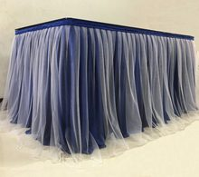 Tulle Tutu Table Skirt for Party Wedding Home Banquet Decoration Table Skirting For Table Cloth Table Cover(China)