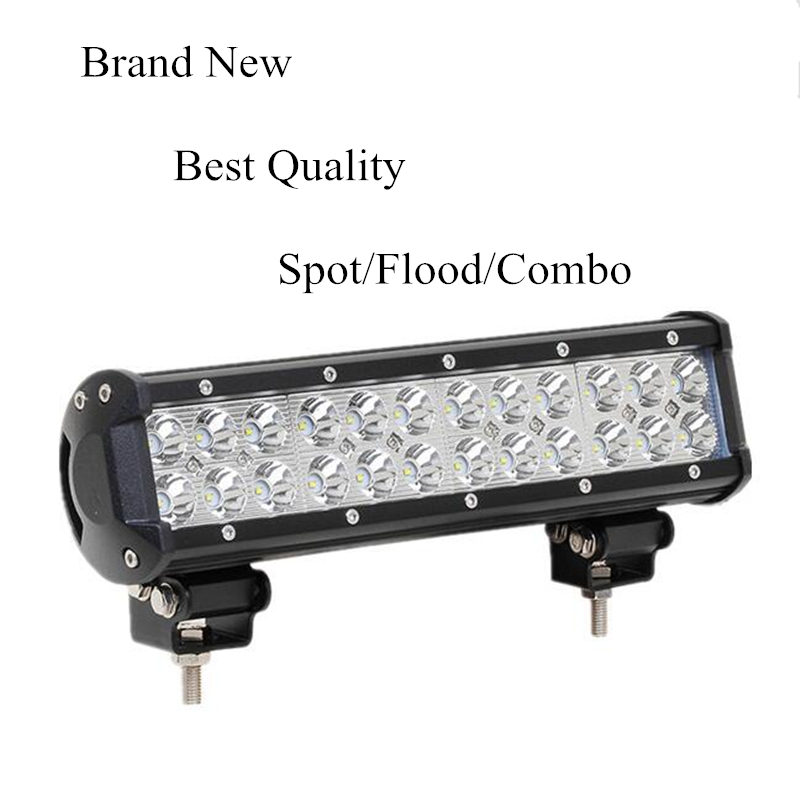 New 12 inch 72W LED Work Light Lamp Bar Spot /Flood/ Combo Beam Offroad Light  For ATV SUV 4WD 4X4 Boating Hunting Truck Tractor tripcraft 126w led work light bar 20inch spot flood combo beam car light for offroad 4x4 truck suv atv 4wd driving lamp fog lamp