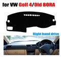 Tampas do painel do carro mat para volkswagen vw golf 4 1997-2003/BORA velho 2006 anos da movimentação da mão Direita dashmat pad traço cessórios