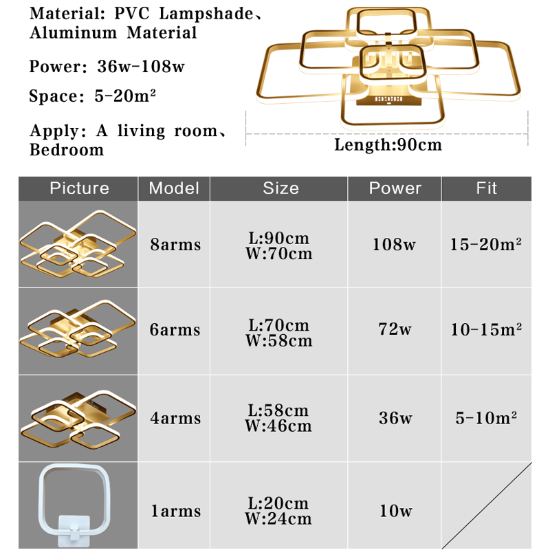 Image 5 - Modern Led Chandelier Rings Living Room Dining Room Bedroom Led Lustres Memory Function Led Ceiling Chandelier Lighting Fixtures-in Chandeliers from Lights & Lighting