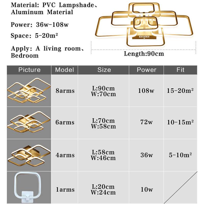 Modern Led Chandelier Rings Living Room Dining Room Bedroom Led Lustres Memory Function Led Ceiling Chandelier Lighting Fixtures