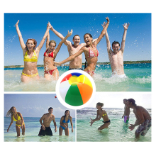 23cm 12pcs Rainbow Colored Inflatable Beach Ball Float Water Play Ball Swimming Pool Play Balloons