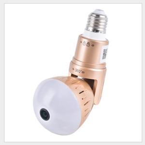 Home security 2MP WiFi Panoramic bulb cameras 1080 P HD 360 fisheye bulb panoramic wireless CCTV cameras lighting bulb camera
