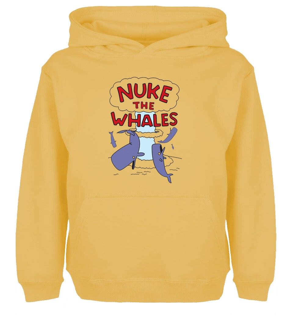 Fashion Style PSP Nuke The Whales Game Design Hoodie Mens Womens Winter Cotton Printing Sweatshirt Tops