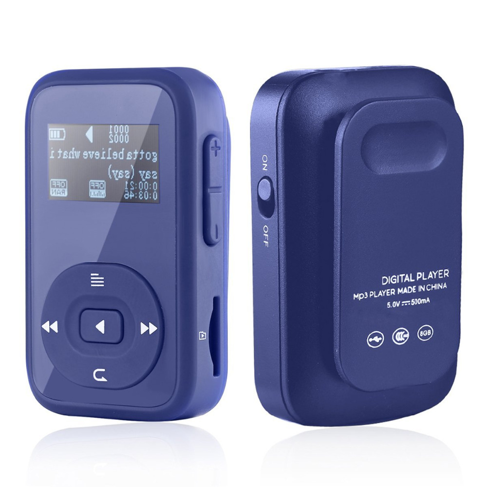 8GB Sports Clip Bluetooth MP3 Player With Lossless Sound and Expandable MicroSD Slot Support 64GB + Free Gift Sport Armband