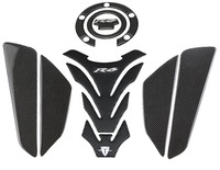 KODASKIN Carbon Tank Pad Sticker Decal emblem GRIPPER STOMP GRIPS EASY for YZF600 R6