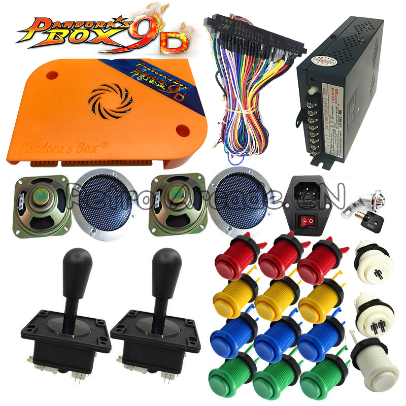 Newest Pandora box 9D DIY kit arcade version 2222 in 1 PCB Happ button joystick power supply for Arcade Game cabinet machineNewest Pandora box 9D DIY kit arcade version 2222 in 1 PCB Happ button joystick power supply for Arcade Game cabinet machine