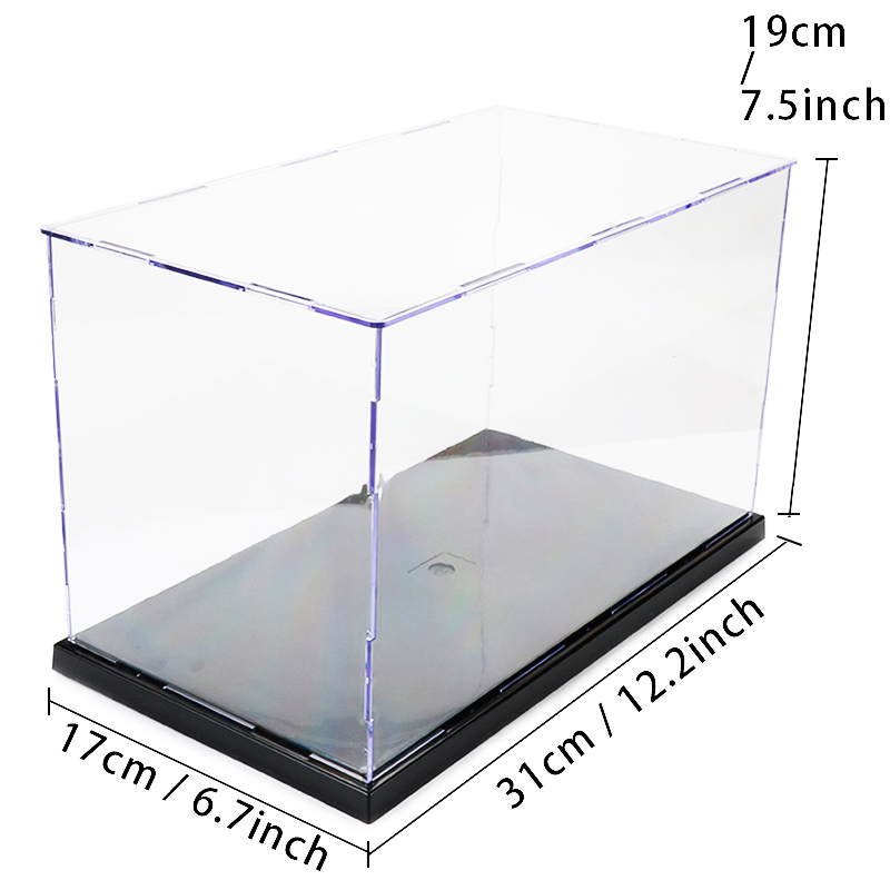 Acrylic Assembly Transparent Display Case Model Building Kits Toy Anime Action Figure Military Soldier Showcase Adults Toys Box