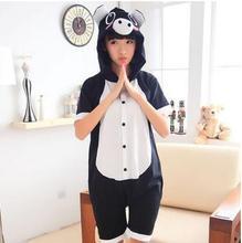 Pink/Black Pig Cosplay Costume Summer Jumpsuit Short Sleeve Animal Cute Pig Pyjamas Cartoon Anime Onesie Adult Child Sleepwear