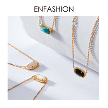 Enfashion Classic Natural Stones Necklaces Pendants Crystal Necklace Gold color Choker Necklace For Women Jewelry Kolye Collier