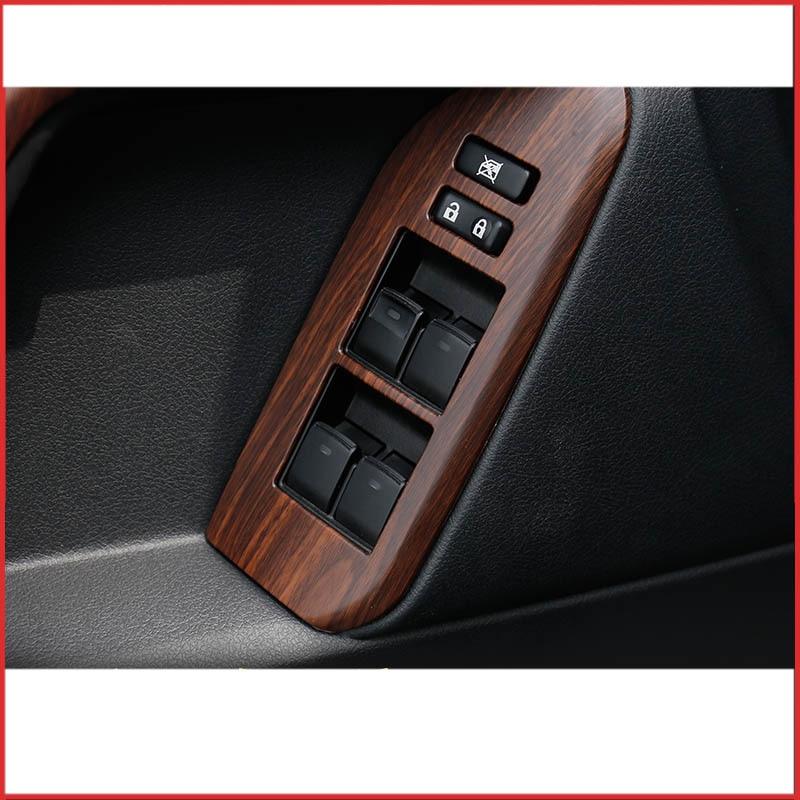 Lsrtw2017 abs couleur bois voiture intérieur tableau de bord center panneau de commande garnitures pour toyota land cruiser prado 2009-2017 J150 - 4