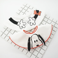 2019 Baby waterproof bib baby soft cartoon saliva droplets water round cute towel puppy cotton