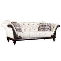 Po Nowoczesność Nowy Projekt francuski 3 Nowoczesne Skórzane kanapy ustawione Classic White leather
