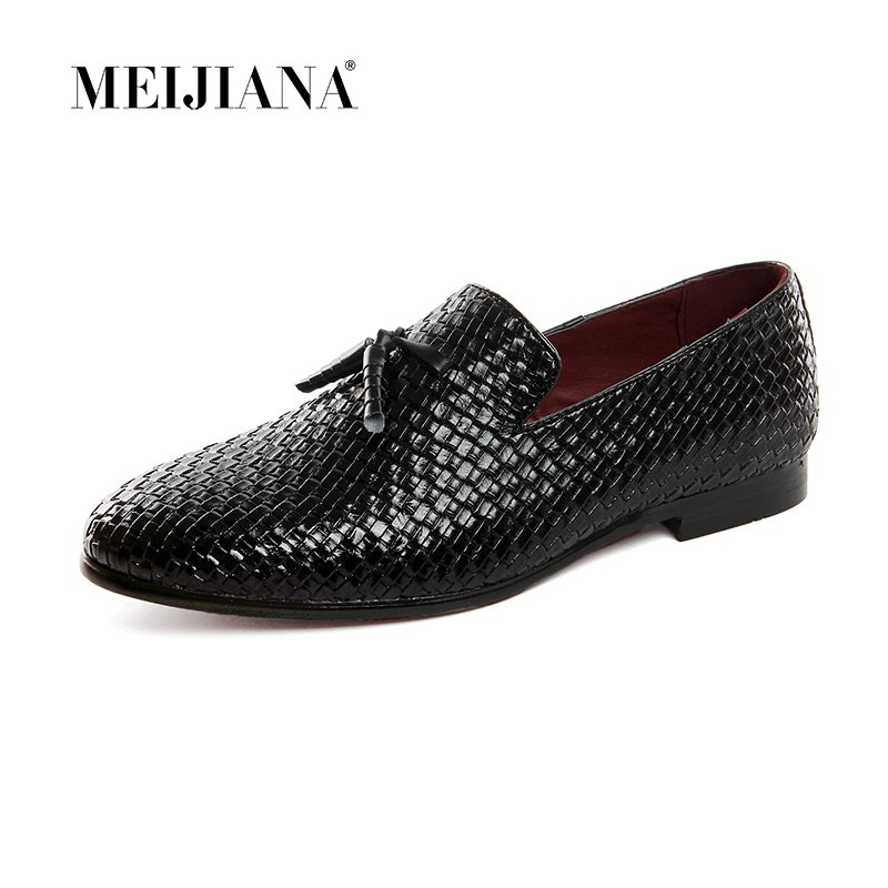 Brand Men Shoes 2018 New Breathable Comfortable Men Loafers Luxury Tassel Weave Men's Flats Men Casual Shoes Big Size 47