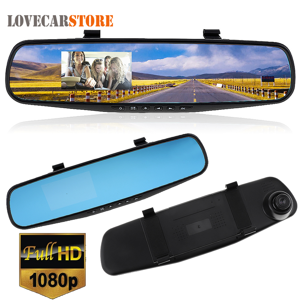 2.7 Pollice Full HD 1080 P LCD Macchina Fotografica Dell'automobile DVR Dash Cam Video Recorder G-sensor Motion Detection Specchio Retrovisore Auto Vehicle DVR