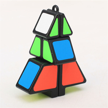 Zcube Christmas Tree Shape Magic Cube Puzzle Toy Christmas Gift Puzzle Cubes cubo Pattern Stickers sparkling christmas tree pattern door art stickers