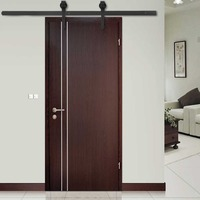 Space Saving 6 FT Modern Door Hardware Closet Set Antique Style Sliding Track Iron Closet Track Kit Bypass Wood Roller
