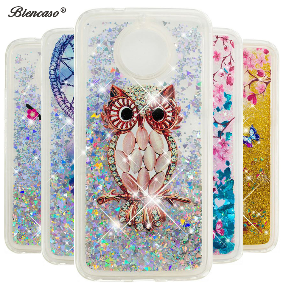 For Moto E4 Plus XT1773 Glitter Sequin Liquid Quicksand Case For Motorola G5 C E5 G5S <font><b>G6</b></font> Plus 2018 Z3 E5 Play Fundas Cover B31 image