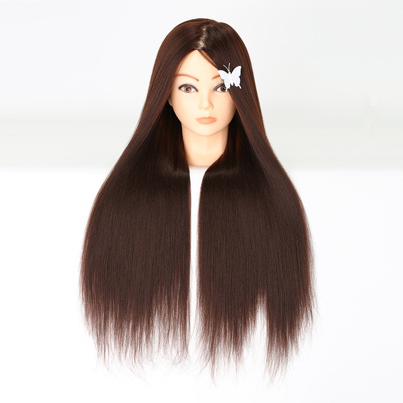 <font><b>2018</b></font> Best 65CM 100% High Temperature Fiber Blonde Hair Training Head Hairdressing Practice Training Mannequin <font><b>Doll</b></font> Head For Sale image