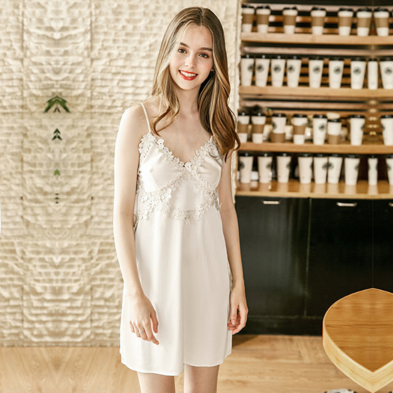 NG0279 Women Sleep Dress   Nightgowns     Sleepshirts   Spaghetti Strap Lace Sexy Lingerie Night Dress Female Nighties Female Night Gown