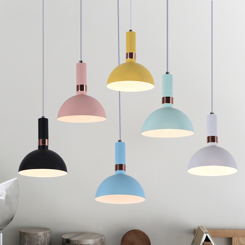 The Macarons bedroom bedside lamp chandelier personalized living room Cafe Hotel Restaurant iron lamp|Pendant Lights| |  - title=