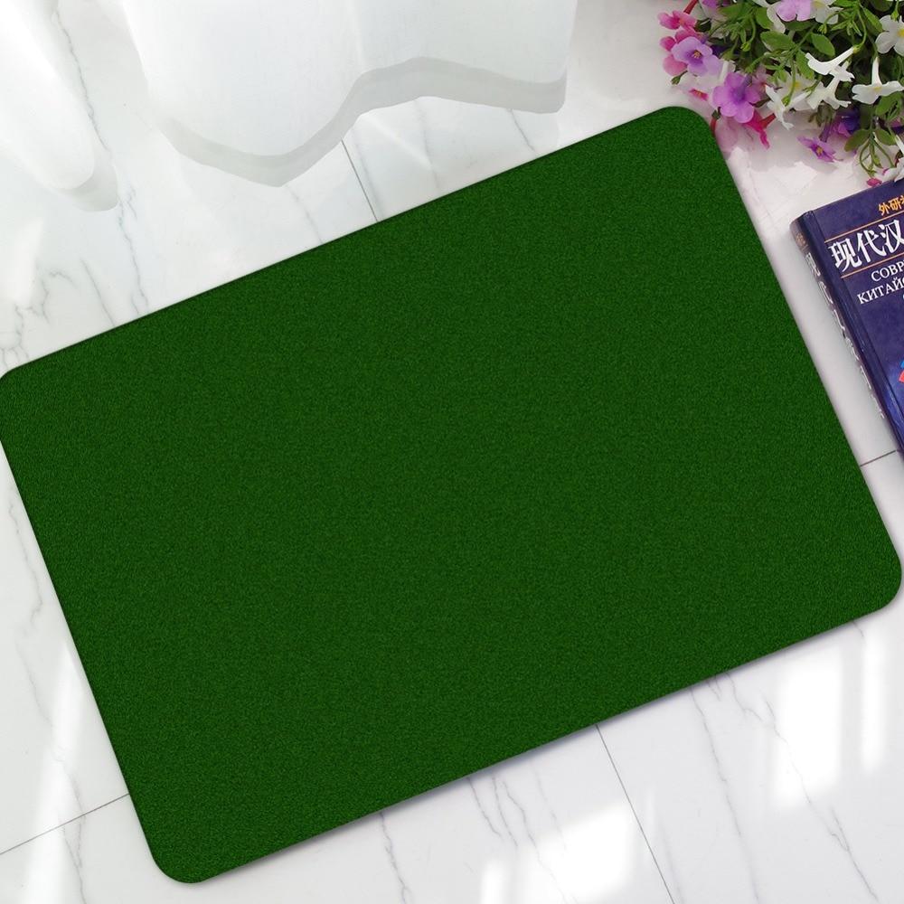 Mdct Solid Green Sport Football Turf Pattern Welcome Door Mats Carpet Anti Slip Rubber Kitchen