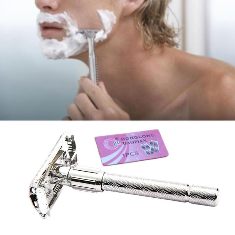 Adjustable Safety Classic Stainless Steel Men Safety Double Edge Blade Shaving Hair Razor Shaver Blades Old-Style Useful