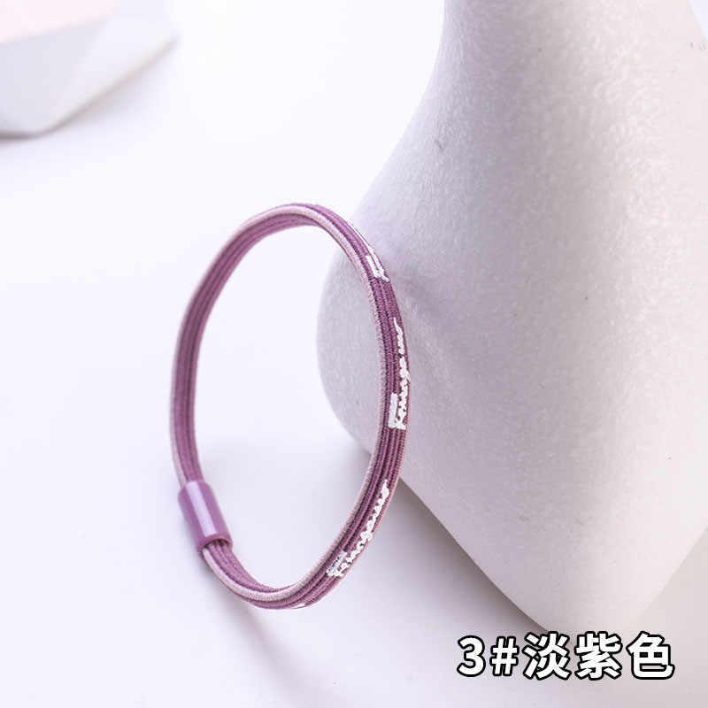 1 шт. простой дизайн шнурок для волос индивидуальность английские буквы эластичные резинки для волос для женщин девочки, Женская прическа, крепление для галстука десны