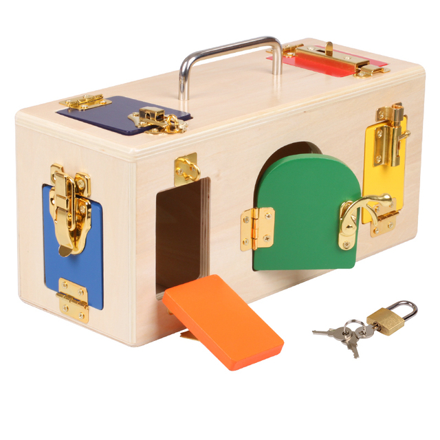 Lock Box with Assorted Locks and Doors