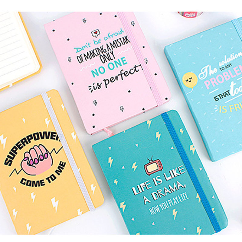 2019 A7 24 Design Designer Mini Small Pocket Planner Lined Paper Hardcover Agenda Journal Binder Notebook School Stationery