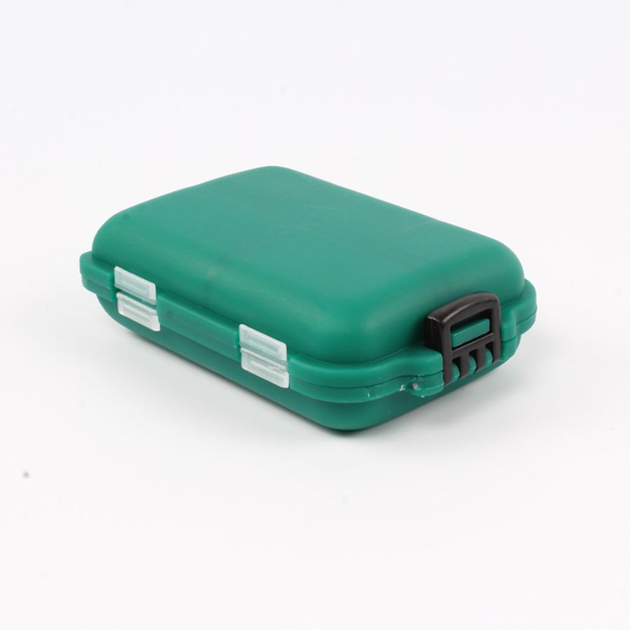 Small Size Green Box Bait Storage Box 10 Compartments Good Sealing Sturdy And Durable