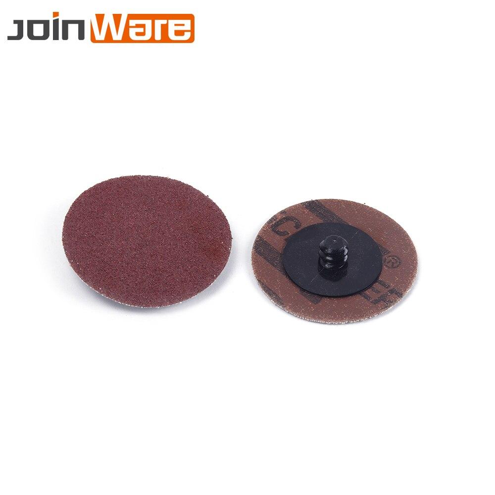 50Pcs 3Inch 24 Grit Roll Lock Sanding Discs Metal Wood Polishing Abrasive Tools