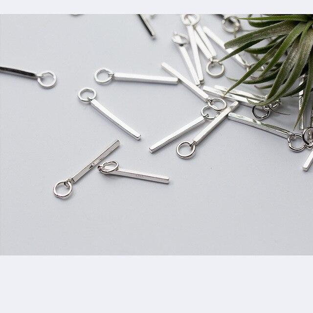 Длинные шармы подвески из серебра 15 пробы 15*925*21 мм