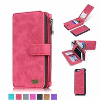 New Genuine Leather Wallet 2in1 Phone Case For LG G3 G4 G5 Removable Zip Original Magnet