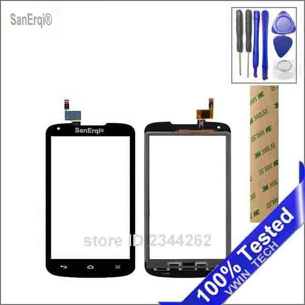SanErqi Tactile Écran Pour Huawei Ascend Y520 Écran Tactile Digitizer Avant 4.5 Panneau Capteur Noir Blanc Couleur