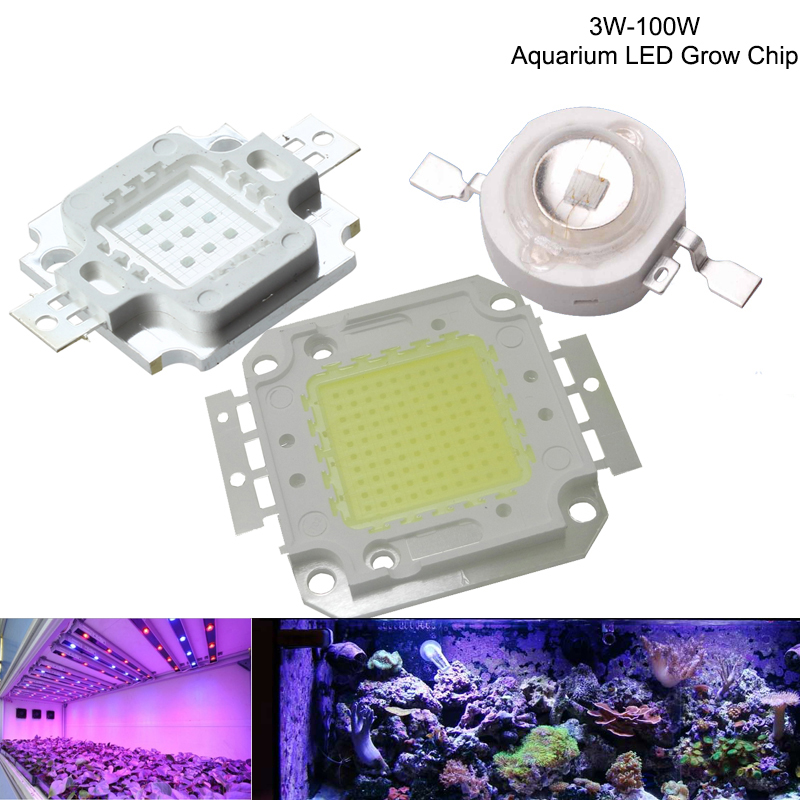 High Power Royal Blue LED Aquarium Grow Chip 440nm 15000K 3W 5W 10W 30W 50W 100W COB LED Emitter Bulb for DIY LED Aquarium Light цена