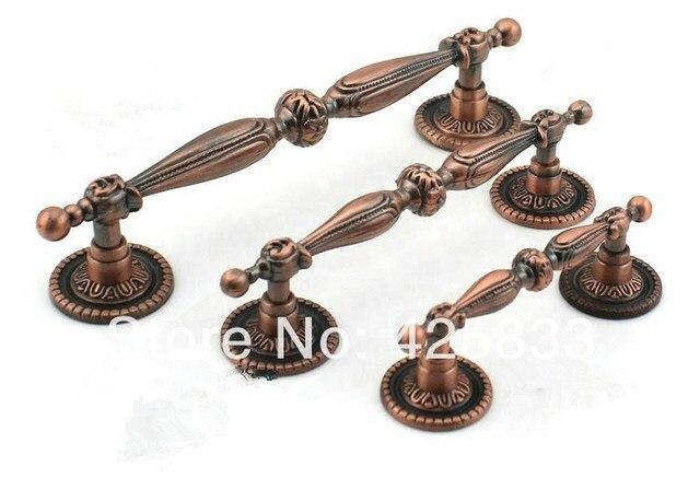 2pcs 128mm Bronze Decorative Knobs Antique Kitchen Armoire Hardware Granite  Pink Drawer Pulls Knobs Door Cabinet